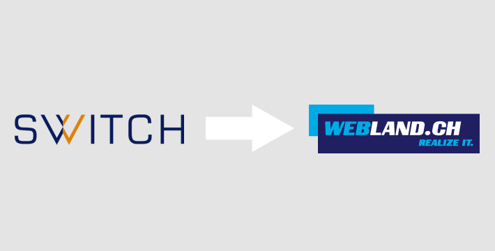 Domain Transfer von SWITCH zu Webland Registrar