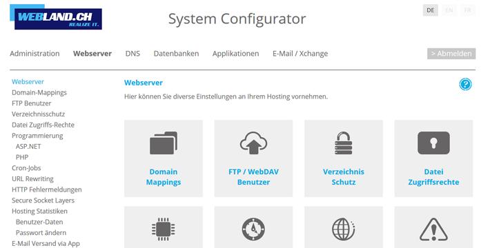 System Configurator Neues Design